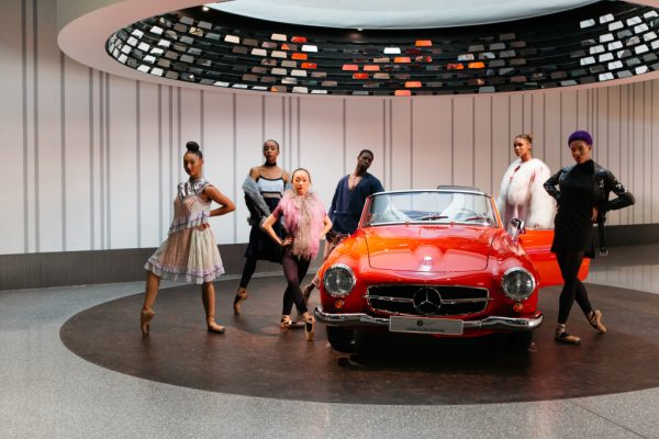 The Hiplet™ Ballerinas transform the Mercedes Benz museum
